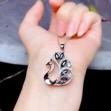 Doğal safir kolye, basit tarzı, ürünleri doğa, değerli taşlar. 925 gümüş