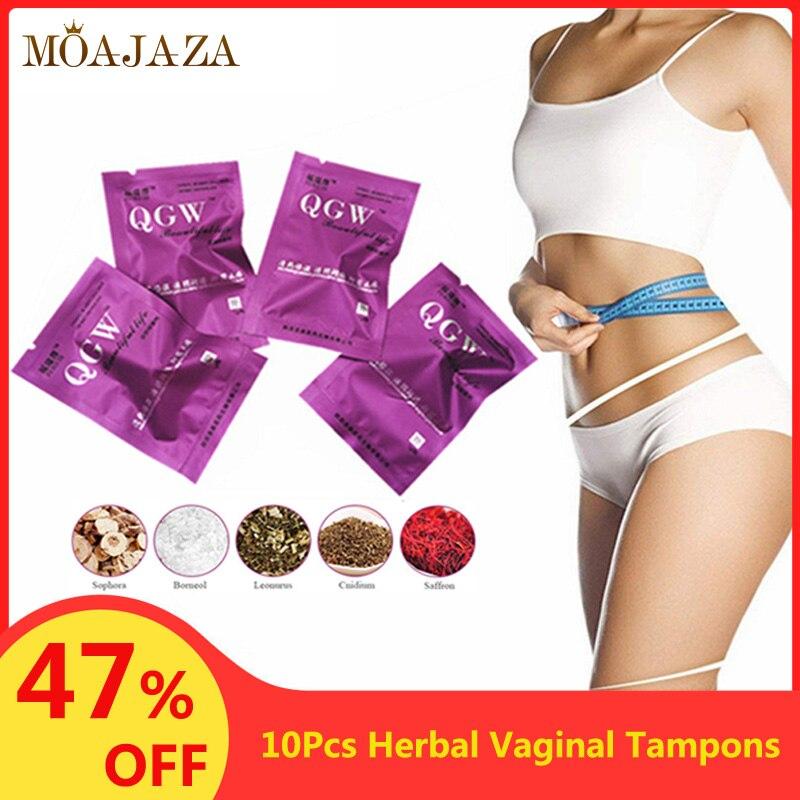 10Pcs/set Herbal Tampons Women Vaginal Clean Detox Pearls Swab Tampon Personal Hygiene Care Product Medicinal Beautiful Life New