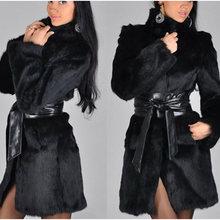 Новая зимняя женская обувь теплое пальто из искусственного меха
