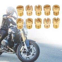 10 шт. мотоцикла карбюратор основной струи M5 нить для Keihin OKO PE PWK карбюратор 108 110 112 114 115 116 118 120 122 124 и т. д