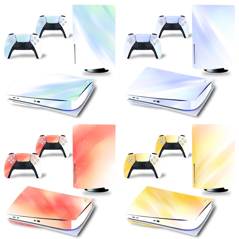 Colors Vinyl Skin Sticker for Sony PS5 Disk PlayStation 5 and 2 controller skins stickers 1