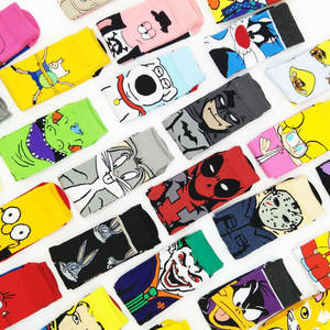 Colorful Socks Miracle Happy Funny Hip-Hop Anime Large-Size Super-Heroes Men's Cartoon