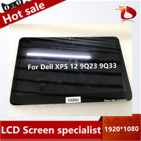 For Dell XPS 12 9Q23 9Q33 LCD screen lp125wf1 touch digitizer LCD display screen FHD Replacement 1920*1080P