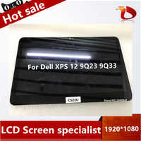 Free shipping For Dell XPS 12 9Q23 9Q33 LCD screen lp125wf1 touch digitizer LCD display screen FHD Replacement 1920*1080P
