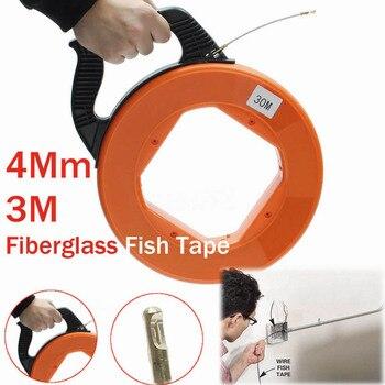 30Meter Fiberglass Fish Tape Reel Puller Conduit Ducting Rodder Pulling Wire Cable Fishing Tool DNJ998