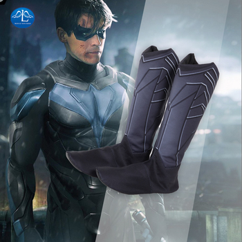 Titans Nightwing Cosplay Shoes Carnival Halloween Cosplay Dick Grayson Superhero Robin Fancy Men boots лонгслив printio robin nightwing and batman
