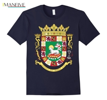 лучшая цена Men Funny T Shirt Women Cool tshirt Escudo Puerto Rico Flag Coat Of Arms Boricua Tee T-Shirt