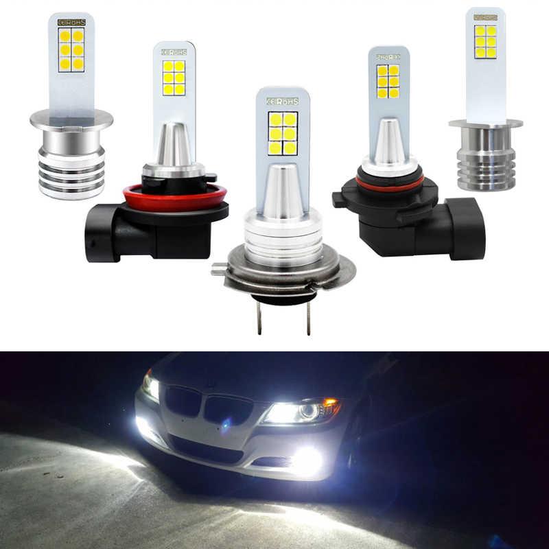 2x H7 светодиодный лампы H1 H3 H8 H11 9006 HB4 светодиодный Противотуманные фары 3030 для авто H11 дальнего света 6000K белый авто противотуманные огни DRL светодиодный 12V