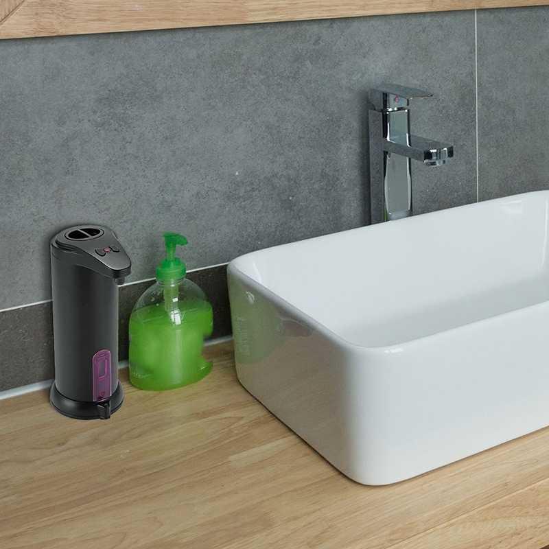 250ML bezprzewodowy z czujnikiem ruchu czujnik podczerwieni automatyczny bezdotykowa dozownik do mydła ze stali nierdzewnej