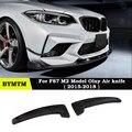 3-D Стиль углеродного волокна переднего бампера воздуха Ветер нож спойлер для BMW соревнований купе F87 M2 только