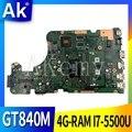 AK X555LD материнская плата для ноутбука For Asus X555LD X555LDB X555LA X555LB X555L X555 протестированный Оригинал материнская плата 4G-RAM I7-5500U GT840M