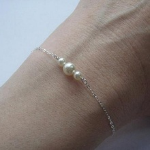 Vintage Gold Silver Imitation Pearl Bracelet Bangle Bracelets for Women Mother's Day Gift Jewelry red bean pink colour above knee mini dress new women s satin bridesmaid dress sisters wedding banquet back of bandage