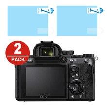 2x LCD Filme Protetor de Tela Protetor de Proteção para Sony A7S A7R A7 II III IV A99 A9 A6300 A6000 A5000 A6400 NEX 7/6/5/3N/C3 A33 A35 A55
