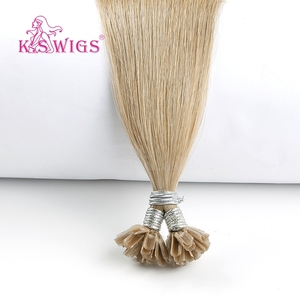 Image 4 - K.S WIGS 16 0.8g/s Real Remy Nail U Tip Hair Extension Pre bonded Keratin Capsule Double Drawn Straight Fusion Hair