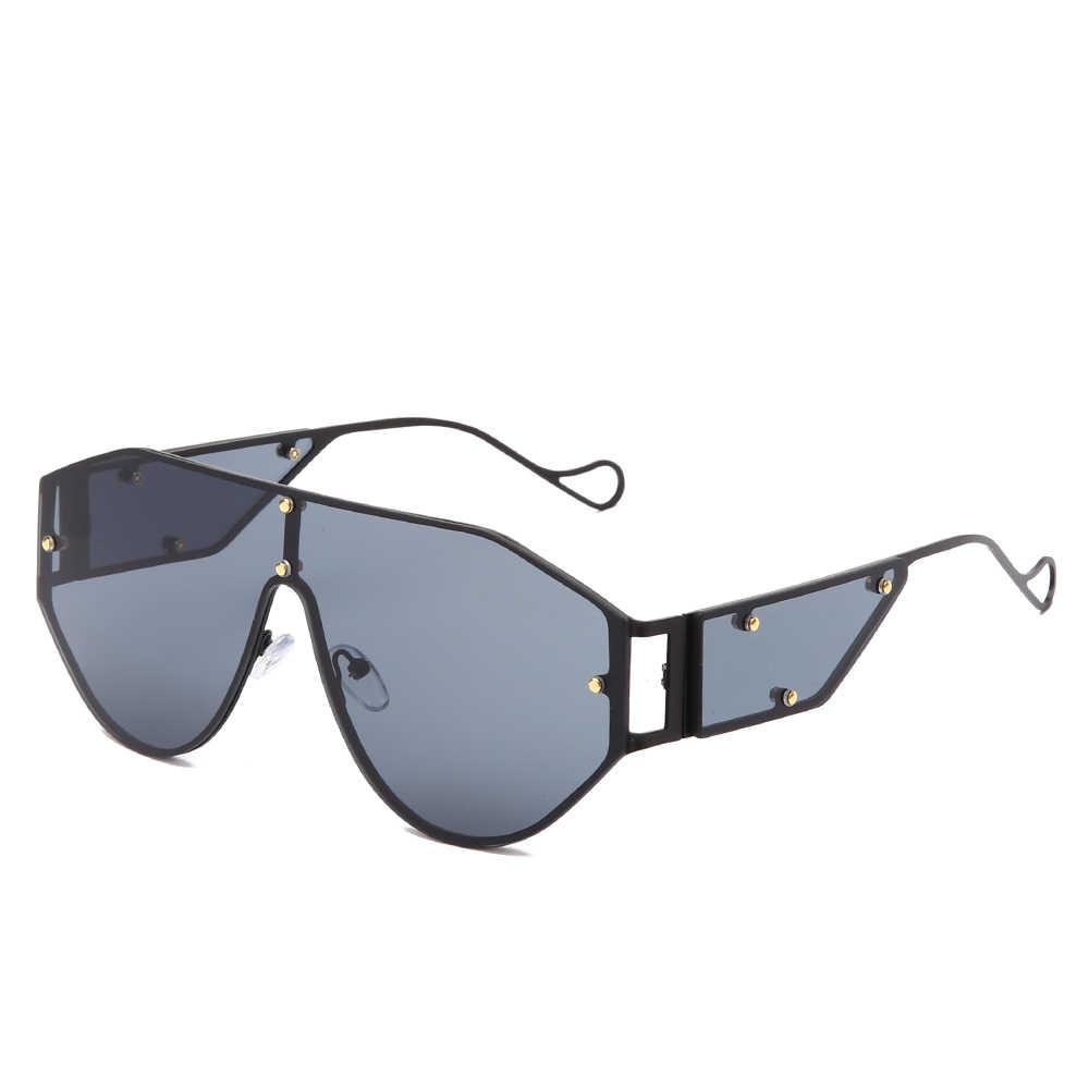 Óculos de sol unissex, óculos de sol quadrados grandes, luxuosos, tendência