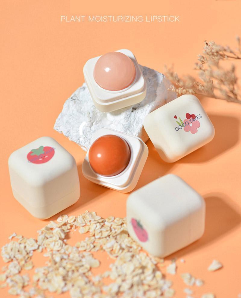 Baume à lèvres sphérique pour femmes, hydratant, longue durée, Anti-séchage, décoloration, rouge à lèvres mignon, maquillage, cosmétique, 70g/pièce