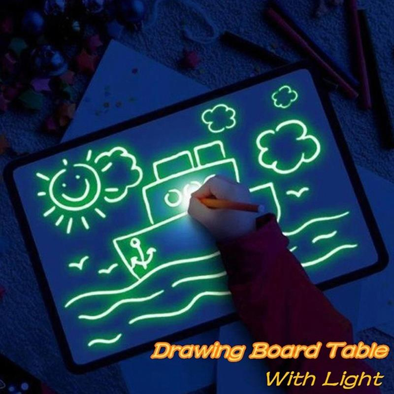 Painting Board Copy Version Luminous Illuminate Graffiti Flat A5/A4/A3 High Density Durable Sturdy Luminous Painting Board