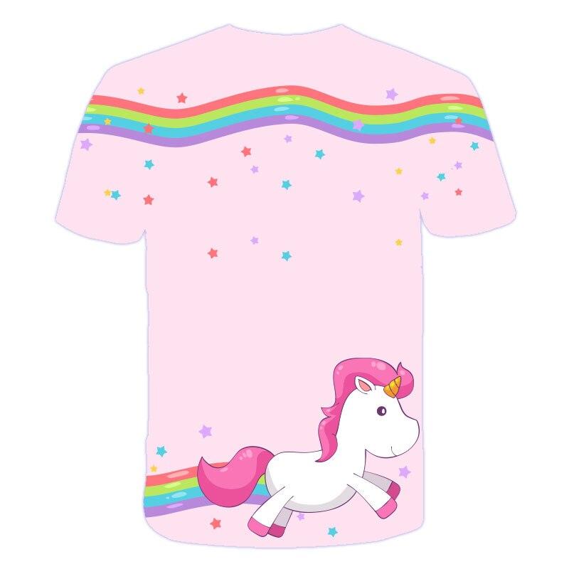Ha0836ebc3a2d4a6f8f77ef494498e566o Baby Girls T-shirt 4 5 6 7 8 9 10 11 12 13 14 Years Unicorn Kids T Shirt Children Clothes Summer Unicorn T shirts Girl s Tee