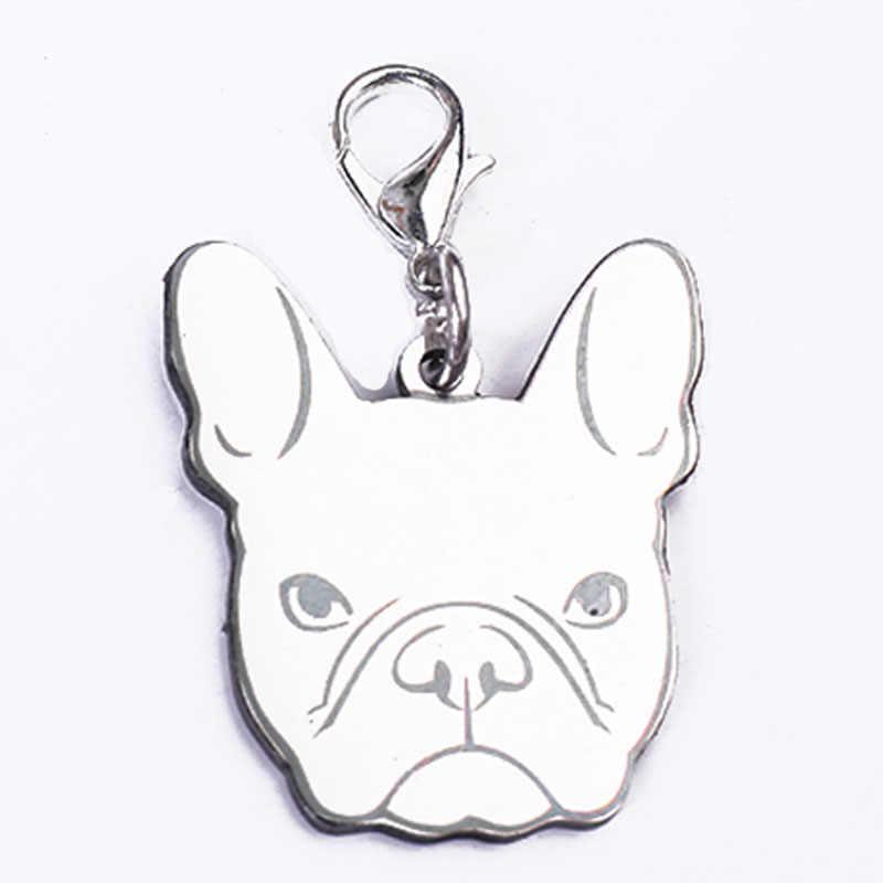 พวงกุญแจ Charm สร้อยข้อมือสำหรับเครื่องประดับคริสต์มาส Diy กระเป๋าสุนัขสัตว์เลี้ยงจี้แท็กสร้อยคอจี้ Bulldog สร้อยคอสร้อยคอของขวัญ