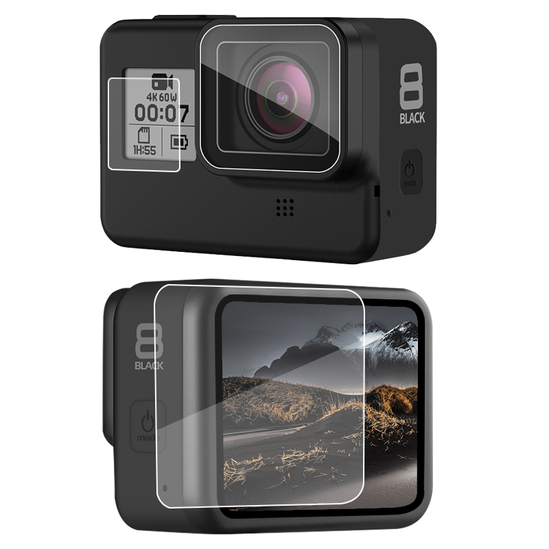 Tempered Glass Screen Protector For Gopro Hero 8 Sport Camera Screen Protector Film Tempered Glass Camera Accessories