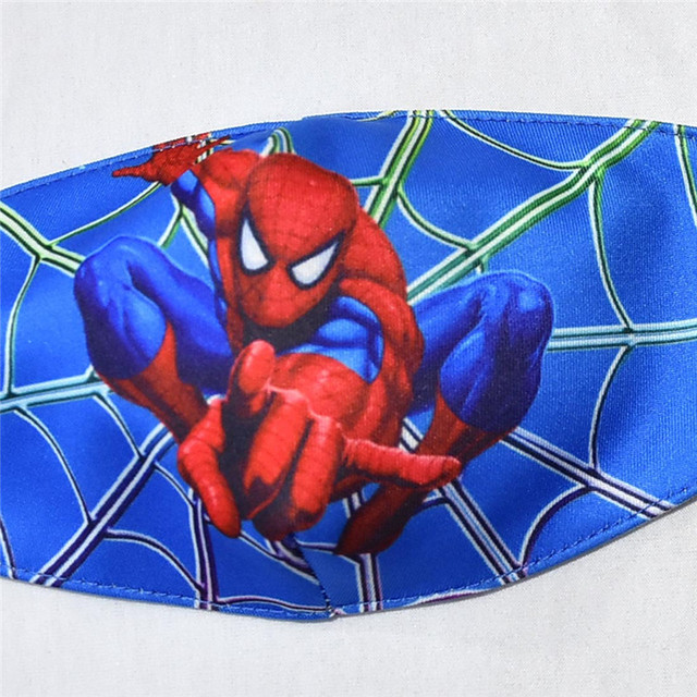 Spiderman Mouth Mask for Kids Adult Unisex Cartoon Face Breathable Cotton Windproof Anti-Dust Anti Pollution Reusable Masks 3