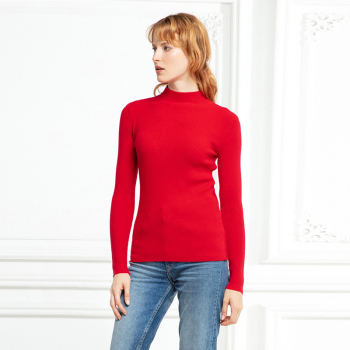 Marwin New-coming Autumn Winter Turtleneck Pullovers Sweaters Primer shirt long sleeve Short Korean Slim-fit tight sweater 4