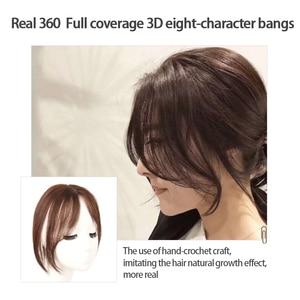 Image 3 - Frangia parte centrale 3D frangia laterale Clip In estensione dei capelli donna Bang capelli sintetici Top anteriore pezzi di capelli MUMUPI