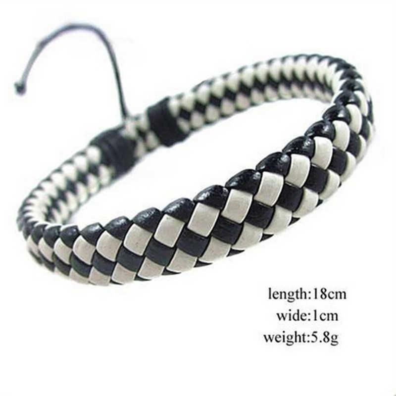 Cheap Hot Fashion Trendy Charm Bracelets Leather Jewelry Woven Rope Chain Comfortable Vintage Men Women Bohemia Wholesale Gift