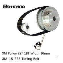 цена на BEMONOC HTD 3M Timing Belt Pulley 4:1 72 Teeth + 18 Teeth Shaft Center Distance 90mm Engraving Machine Accessories Belt Gear Kit