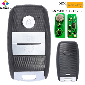 KEYECU OEM Smart Remote Control Car Key With 3 Buttons & 433MHz - FOB for Kia Sorento 2015 2016 2017 2018 2019, P/N: 95440-C5500