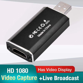 Video Video Capture Card 4K HDMI to USB 2.0 Household Computer Accessories Grabber for Recording Live Streaming