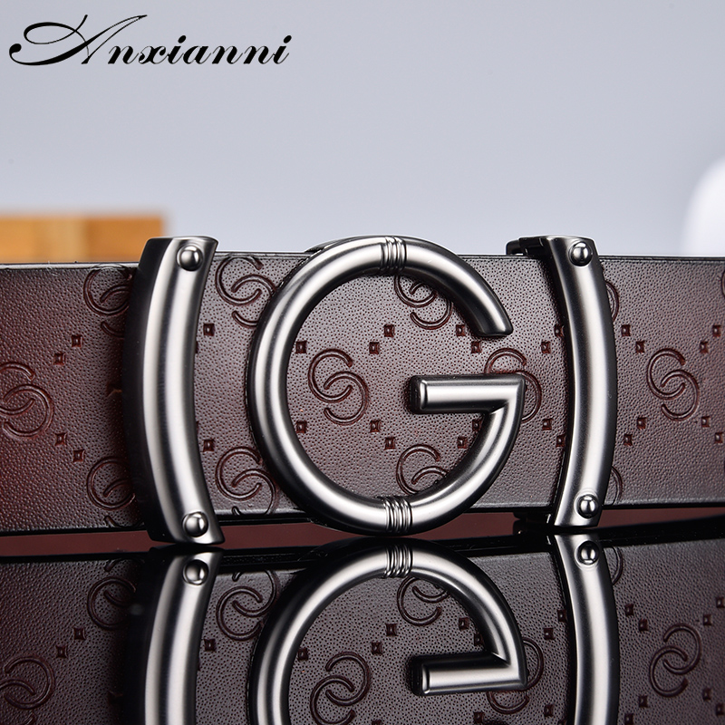 Designer High Quality G Letter Belt For Men And Women Smooth Buckle Strap Genuine Real Leather Fashion  Belt