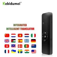 Kebidumei المحمولة T11 الذكية صوت المترجم سماعة بلوتوث لحظة صوت المترجم في الوقت الحقيقي الأعمال متعددة اللغات