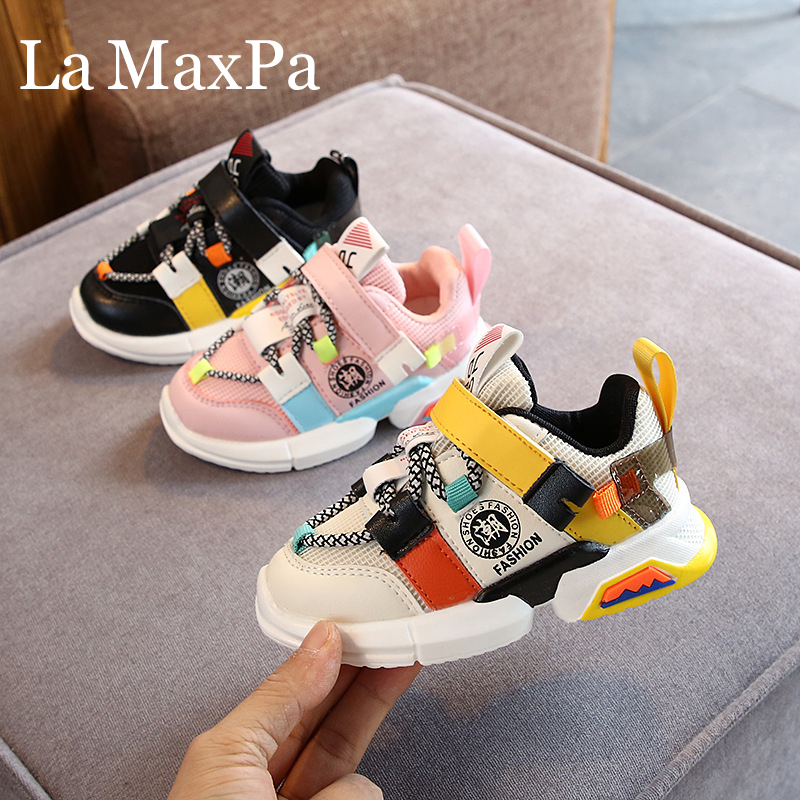 2020 New Kids Sports Shoes Children Casual Boys Patchwork Sneaker Anti-Slippery Sneakers for A Boy Chaussures Enfant Garcon