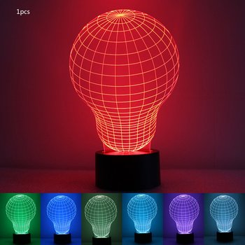 Colorful 3D Night Light Colorful Night Light Eye Care LED Light Bedside Night Lamp Home Decoration Birthday Gift waterproof colorful led cube night light vc a300