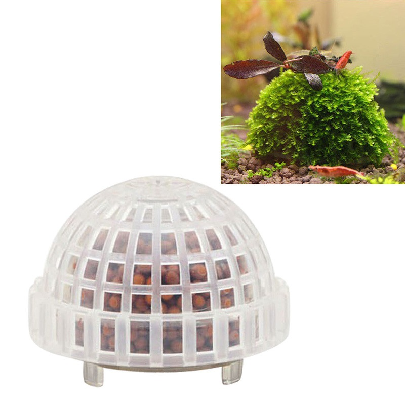 Aquarium Fish Tank Media Moss Ball Filter Decor Landscaping Plants Holder Floating Moss Ball for Aquarium Decoration in Decorations from Home Garden