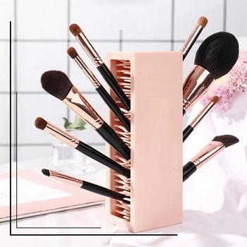 Cajón de almacenamiento práctico para maquillaje, estuche de silicona para cosméticos, de viaje, de gran capacidad, para lápices de labios y pinceles, 1 Uds.