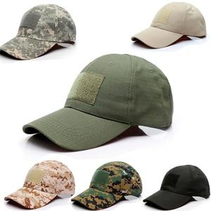 Adjustable Baseball Cap Tactical Summer Sunscreen Hat Camouflage Military Army Camo Airsoft Hunting Camping Hiking Fishing Caps(China)