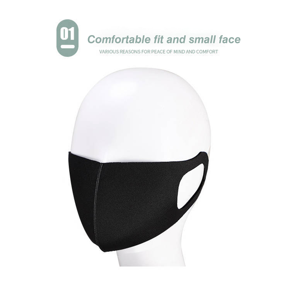 1/5pcs Reusable Breathable Three-dimensional Mask Face Cover Adult Unisex Dust Proof Mouth Mask