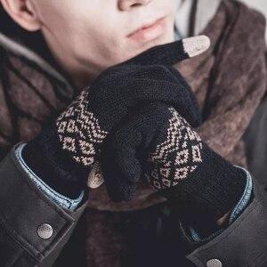 Image 5 - Youpin için parmak dokunmatik ekran eldiveni için kadın erkek kış sıcak kadife eldiven ekran Tablet telefon doğum günü/noel hediyesi