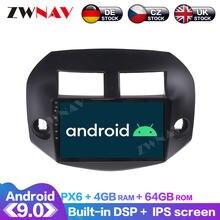 Android 9 с dsp carplay ips экран для toyota rav4 2005 2006