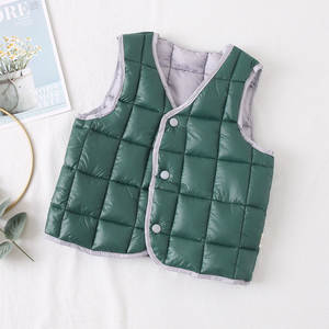 Outerwear Vest Hodded-Jackets Girls Sleeveless Winter Coats Warm Autumn Baby Boys Kids