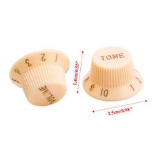 1 Volume 2 Tone Knob Button Guitar Control Knobs For FD ST Cream