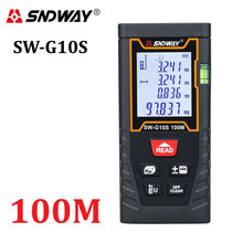 Sndway medidor de distância a laser 100m 80m 60m 40m telêmetro laser fita medida trena digital range finder régua roleta