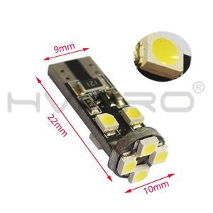Image 2 - 10X Canbus Xenon beyaz 194 3528 8 Smd hiçbir Obc hata ücretsiz otomatik Led iç ışık kuyruk ampul yedek ışık park lamba Cob led ampul