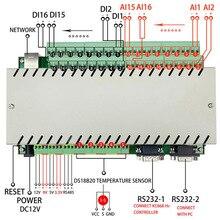 16Analog + 16Digital Input AI DI Board RS232 RS485 Power Meter Temperature Detection Sensor Reader