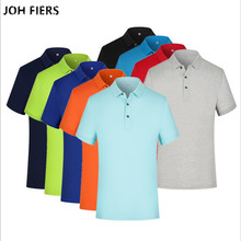 JOH FIERS Brand Men Polo Shirt 2019 Summer Short Sleeve Fashion Casual Slim Solid Color Hot Sale