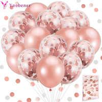 20 piezas confeti globos de látex 1st 1, 2, 3, 4, 5, 18 21st 30 40 50 año decoración para fiesta de Feliz Cumpleaños de adultos, niños, niño, niña BabyShower