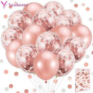 20pcs Confetti Latex Balloons 1st 1 2 3 4 5 18 21st 30 40 50 Year Happy Birthday Party Decoration Adult Kids Boy Girl BabyShower