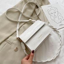Bolso de lujo de diseñador para mujer, bandolera con patrón de cocodrilo, bandolera de hombro, 2020